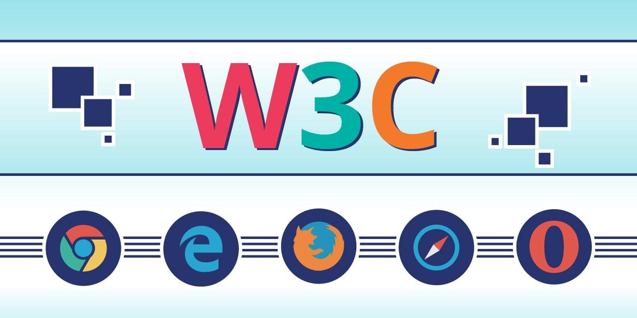 infographie illustrant le W3C