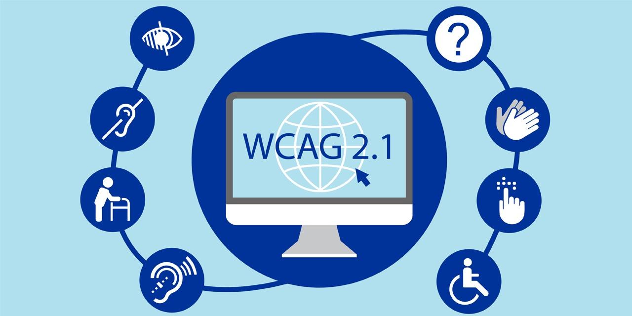 Image illustrant les WCAG 2.1 et les types de handicap
