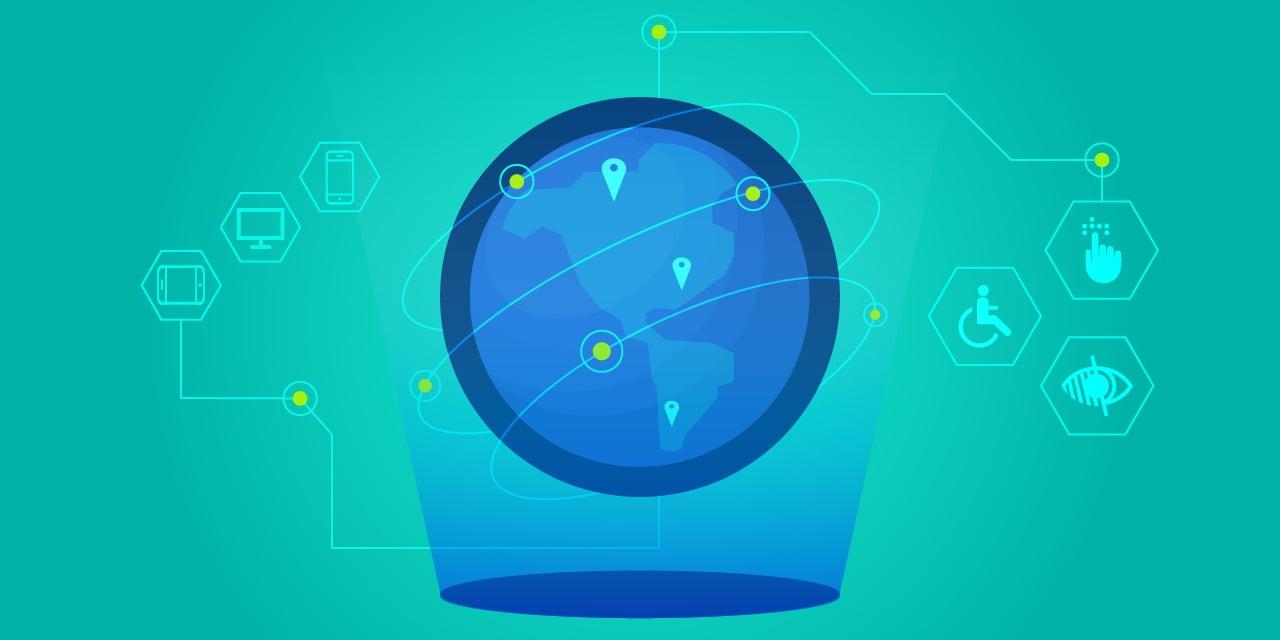 Image illustrant les règles de l'accessibilité numérique à l'étranger