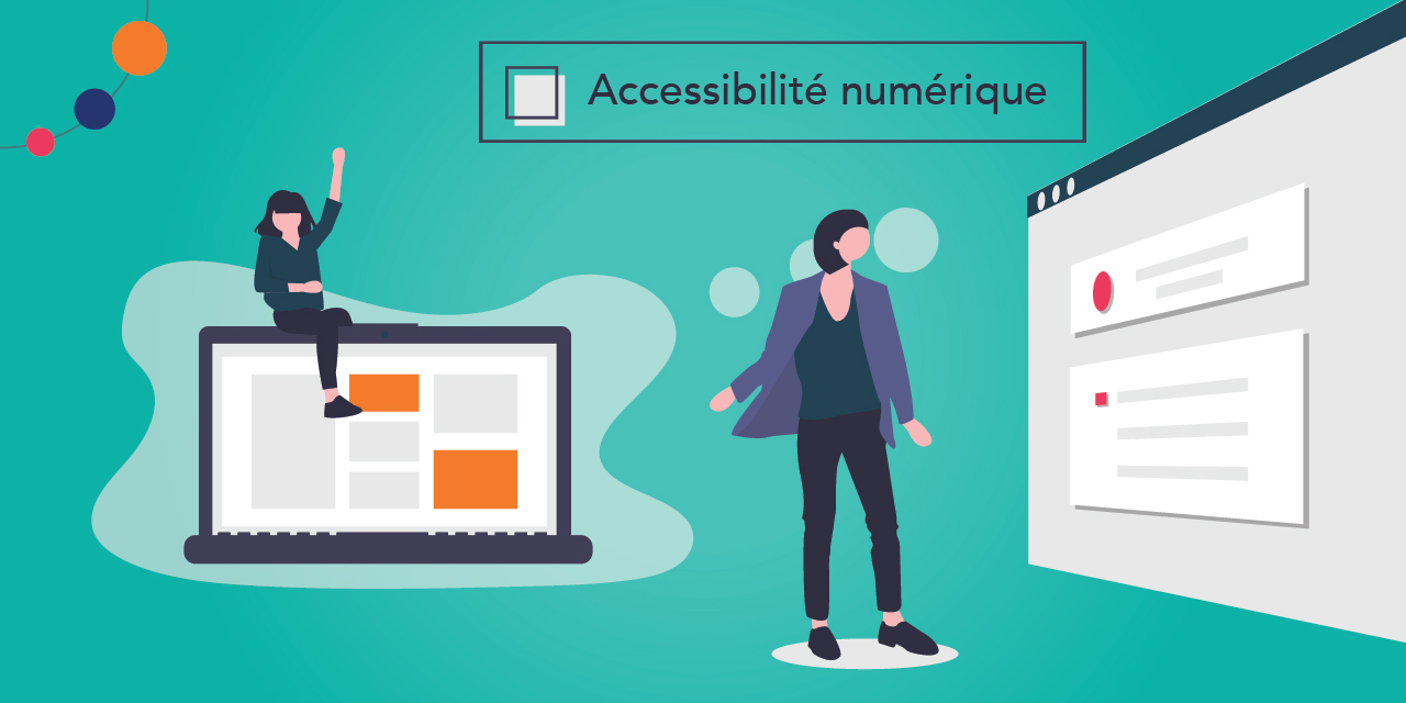 Images illustrant quelques statistiques sur la fracture numérique en matière d'accessibilité