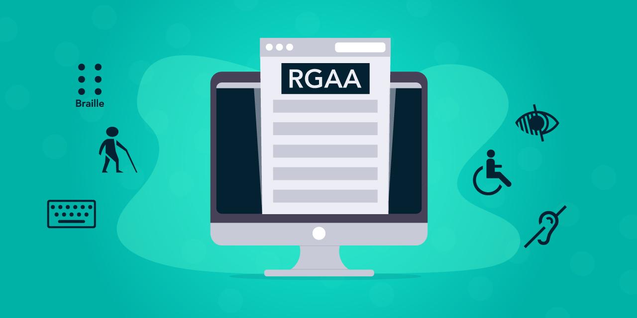 Images illustrant les 8 obligations du RGAA V4