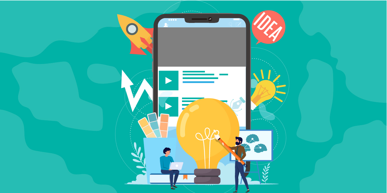 Image illustrant comment être créatif sur mobile