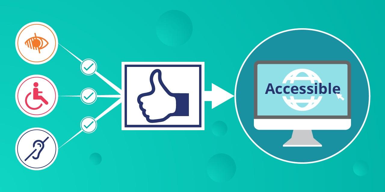 infographie illustrant l'accessibilité numérique